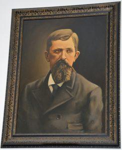 Портрет Ф. Гека в музее п. Безверхово